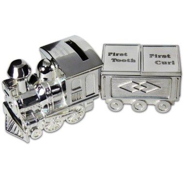 Personalised Train Moneybox with Tooth & Curl Trinket | £21 | Special Moment