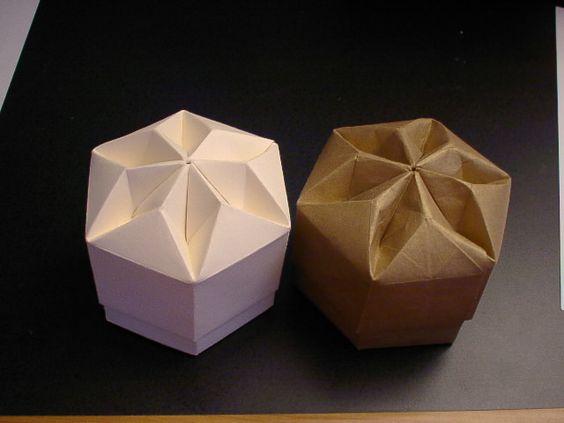 Origami Box Hexagon Diamond Wrapping And Folding