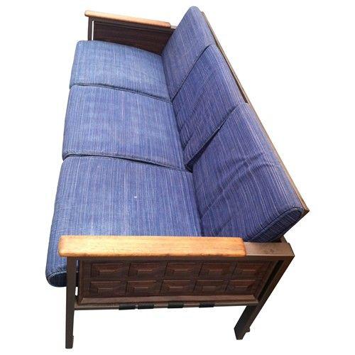 Vintage Samsonite Sofa With Original Fabric - $600.