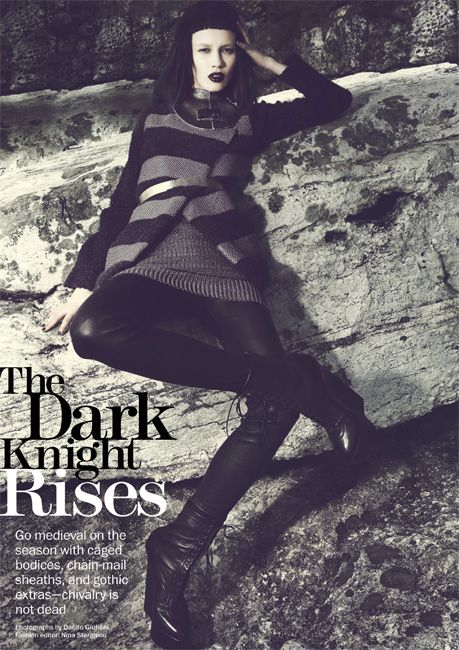 The Dark Knight Rises - Gothic Fashion Editorial Marie Claire - fall 2012