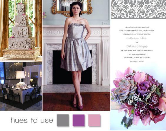 Beautiful silver and purple wedding inspiration! #wedding #purple #silver