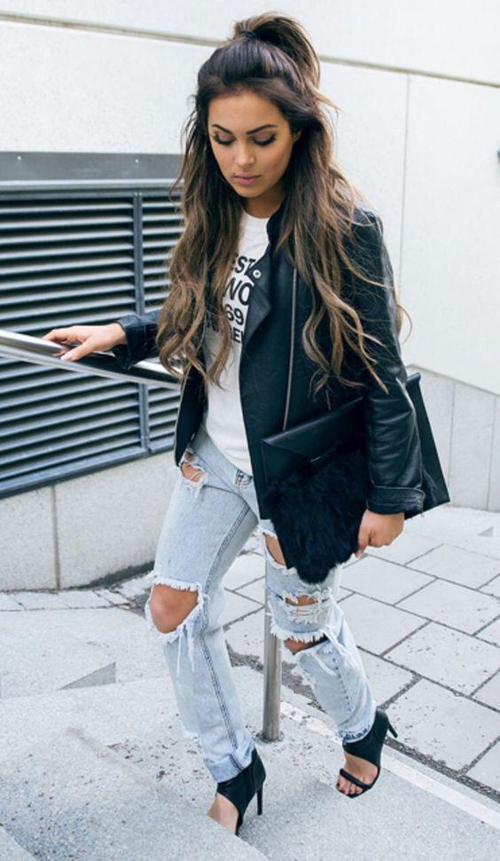 ¡Denim a la vista! Formas de combinar tus jeans en invierno: