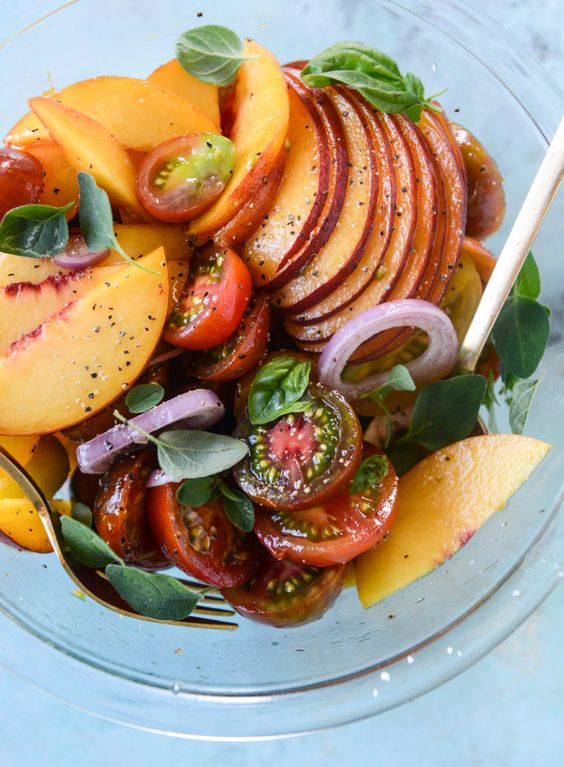 ... Herb Butter Toast | Recipe | Marinated Tomatoes, Peaches and Tomatoes