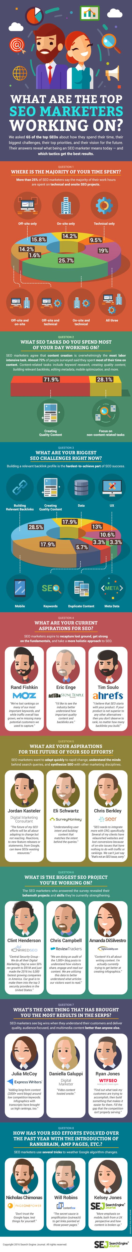 What Gets The Most #Results for Top #SEOs? [#Infographic]
