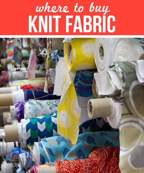 Best Online Knit Fabric Sources - Great List of Online Shops with links - From Andrea of Go To Patterns