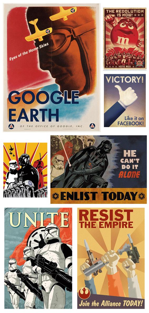 Turning propaganda poster images into modern web design