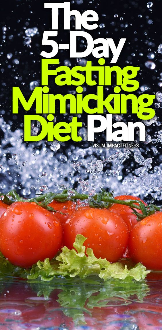 The 5 Day Fasting Mimicking Diet Plan With Images Longevity