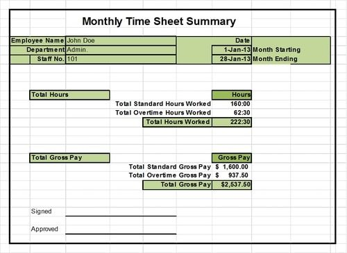 Excel Timesheet Templates Ready To Use Out Of The Box Excel Templates Fun To Be One Timesheet Template