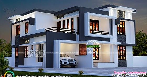 2826 Sq Ft Modern Contemporary Home In 2020 House Roof Design Modern Exterior House Designs Kerala House Design Contemporary house kerala 2020