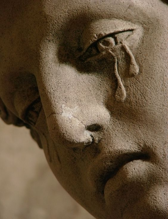 Mary Magdalene Crying Statue - Saint Martin church, Arc-en-Barrois: