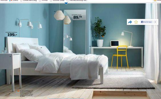Ikea muurverf deco lichtblauw home decoration pinterest deco and ikea - Grijze muur deco ...