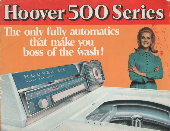 Vintage product manual - Hoover 500 Series - Washing Machine