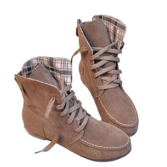 Angel Wings Girls Lace up Winter Boots Flat Ankle Shoes Mothers Day Gifts