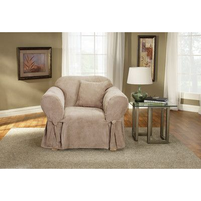 Sure Fit Soft Suede Chair Slipcover Upholstery:
