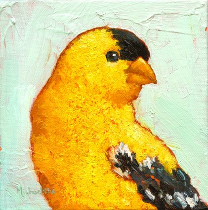 Bright and Beautiful, Michael-Che Swisher, Oil on Canvas, 6 x 6, Eisenhauer Gallery, $245