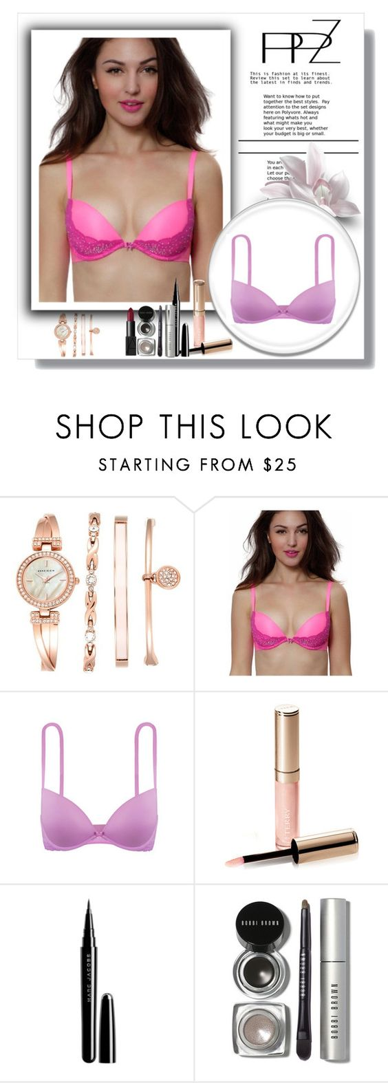 """""""PPZ Lingerie"""" by fashion-all-around ❤ liked on Polyvore featuring Anne Klein, By Terry, Marc Jacobs, Bobbi Brown Cosmetics and NARS Cosmetics"""