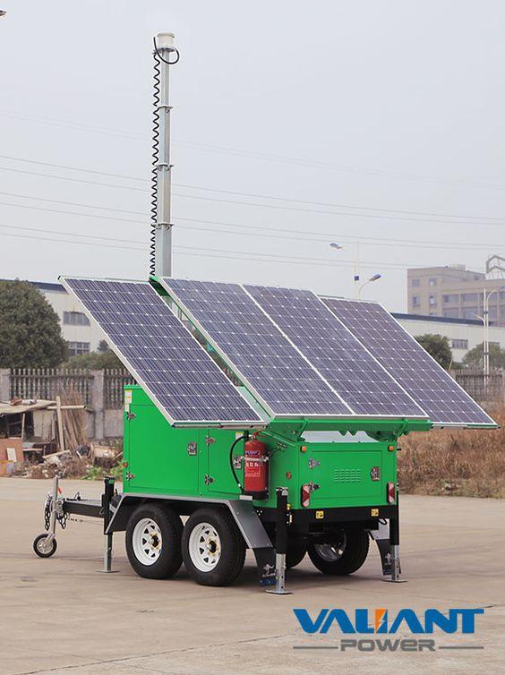 Solar Trailer Vts1200d Product Feature 1 4 325w Solar Panels 2 6x150ah 8x150ah 8 200ah Gel Batteries Dc24v Dc48v System Solar Roof Solar Panel Solar Panels