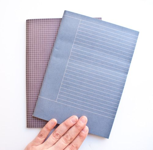 Beautifully simple 100 recycled notebooks from South Korea, in - cornell note