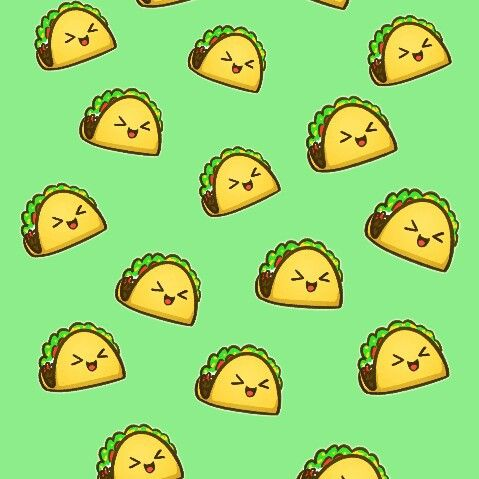 Image Discovered By Jaeliner3101 Find Images And Videos About Cute Food And Wallpaper On We Heart It The In 2021 Taco Wallpaper Cute Food Wallpaper Food Wallpaper