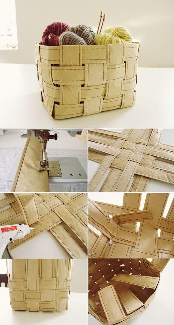 Sexta de papel  - cesta - cesto - DIY