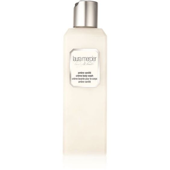 Laura Mercier Crème Body Wash Ambre Vanillé (£31) ❤ liked on Polyvore featuring beauty products, bath & body products, body cleansers and laura mercier