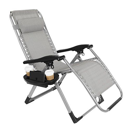 Artist Hand 350lbs Capacity Zero Gravity Heavy Duty Outdoor Folding Lounge Chairs W Snack Tray Lawn Patio Recl Zero Gravity Chair Gravity Chair Outdoor Chairs