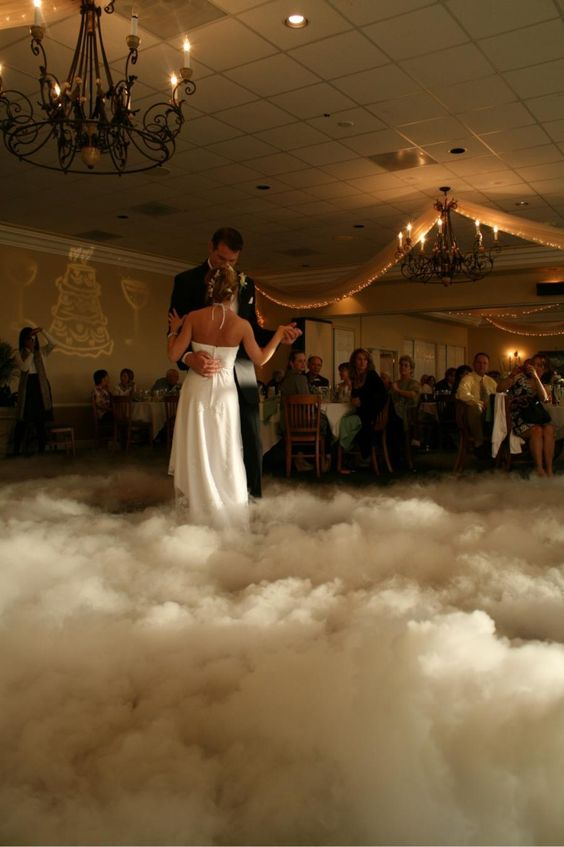 """Add that extra romantic feel with this Dancing on a Cloud affect for your first dance. Companies such as ourselves can provide this extra """"WOW"""" factor.  illuminatingmagic.com"""