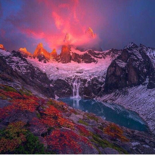 Gorgeous view at Monte Fitz Roy, Patagonia