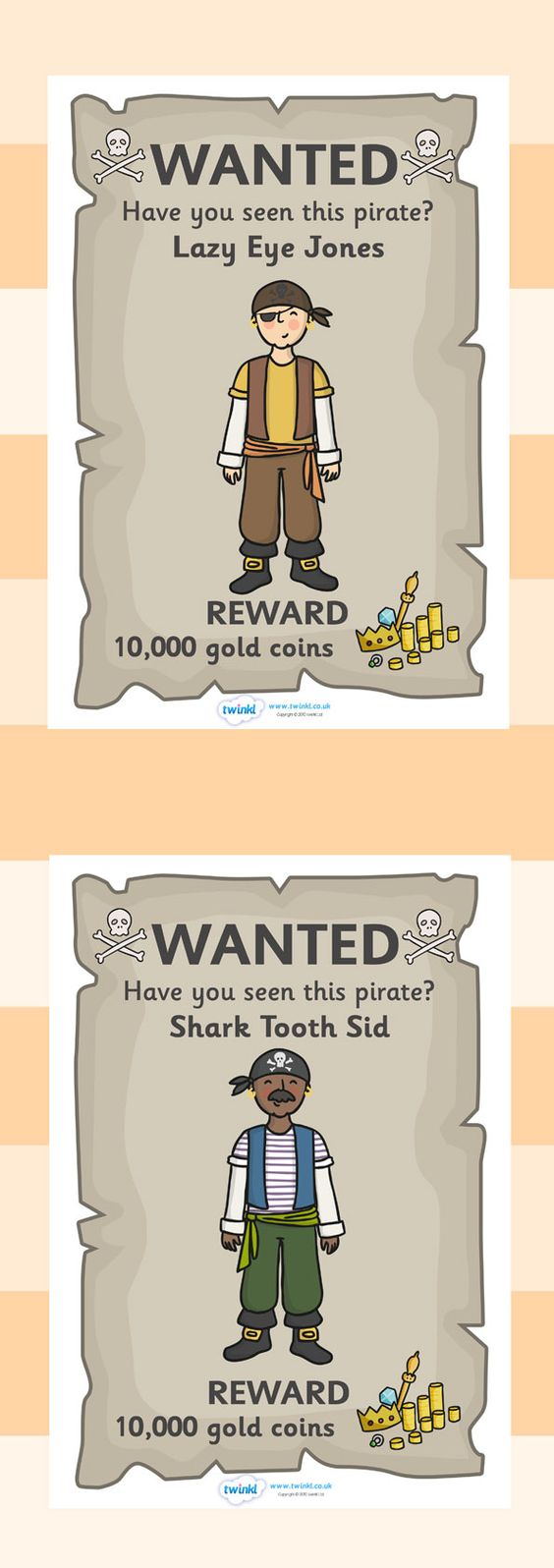Twinkl resources pirate wanted posters classroom for Wanted pirate poster template
