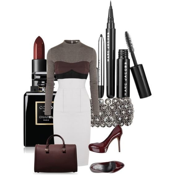 A fashion look from March 2015 featuring Victoria Beckham dresses, Jessica Simpson pumps and Victoria Beckham handbags. Browse and shop related looks.