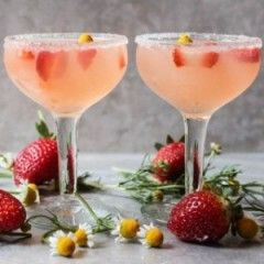 Strawberry and Chamomile Lemon Drops