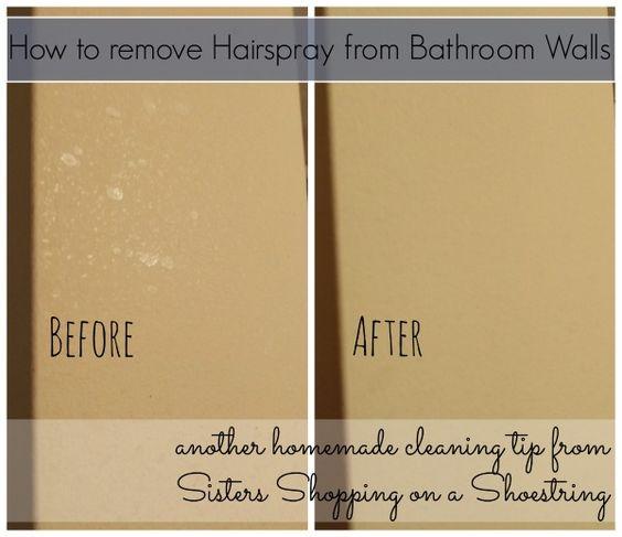 How To Get Hairspray Residue Off Bathroom Walls Homemade