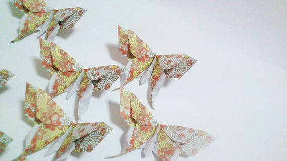 25 Origami Chiyogami Blossom Swallowtail Butterflies by exoticfolds on Etsy, USD$14.24.