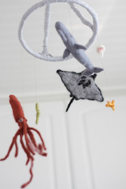 mobile! Needle Felted Sea Animals Pinterest Mobiles and Html