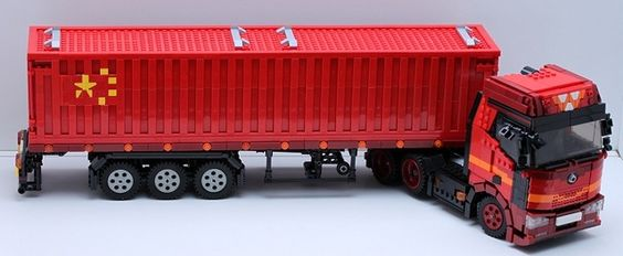 Lego Tractor Trailer : Lego tractor trailer truck five star moc s from