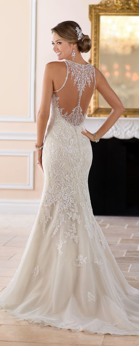 best images about lace boat neckline mermaid wedding dresses on