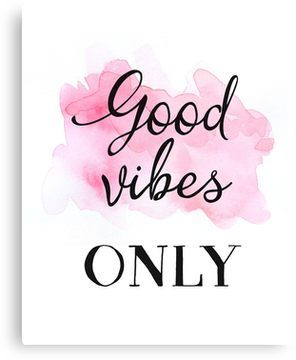 Rose Gold Big Good Vibes Only Quote Wall Art Print