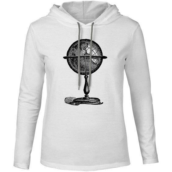 Mintage Vintage Globe Mens Fine Jersey Hooded T-Shirt