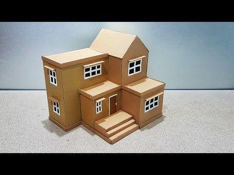 طريقة صنع بيت من الكرتون How To Make A Beautiful Mansion House From Cardboard Youtube Home Decor Decor Home