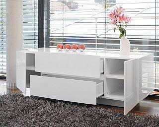 SalesFever Sideboard Celine mit 2 Türen und 2 Schubladen weiß Hochglanz, Bild 1