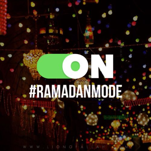 Ramadan is only days away, yet even those days are not guaranteed. We shouldn't solely depend on Ramadan to change our habits. Let's switch on #RamadanMode today.:
