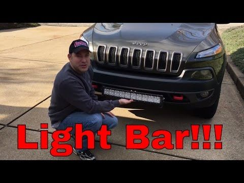 Auxbeam 22 Quot Led Light Bar Install 2015 Jeep Cherokee