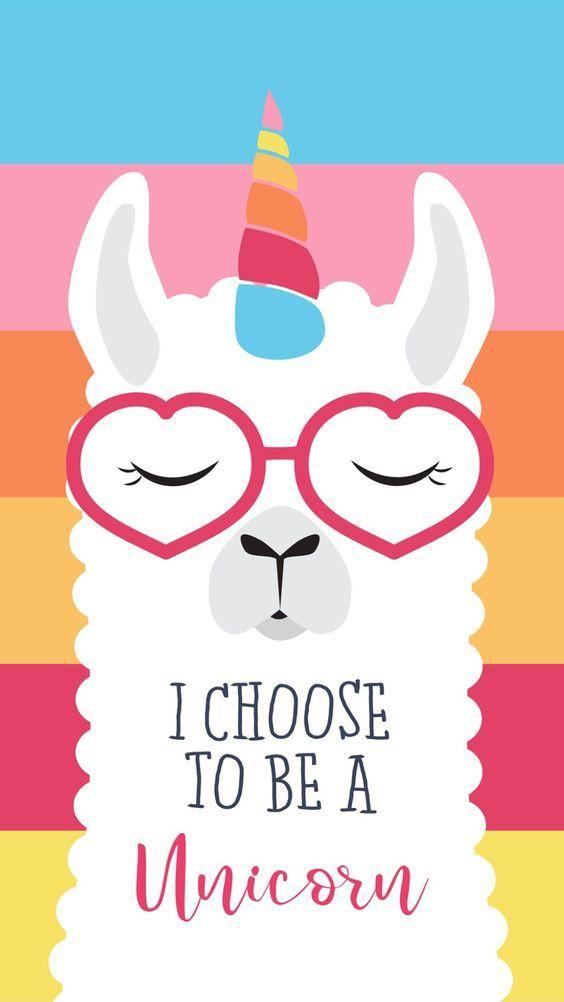 For The Love Of Llamas 10 Cutesy Llama Iphone Wallpapers The Review Wire Unicorn Wallpaper Iphone Wallpaper Cute Llama
