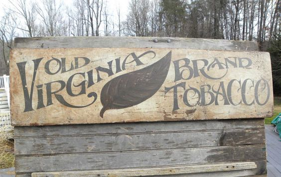 Tobacco Sign,original hand painted, faux vintage,wooden ...