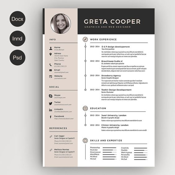 Civil Engineer Resume Template Word, PSD and inDesign Format - video editor resume