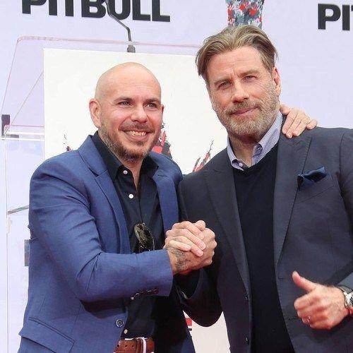 John Travolta Asked Pitbull For Permission To Go Bald Going Bald Balding John Travolta