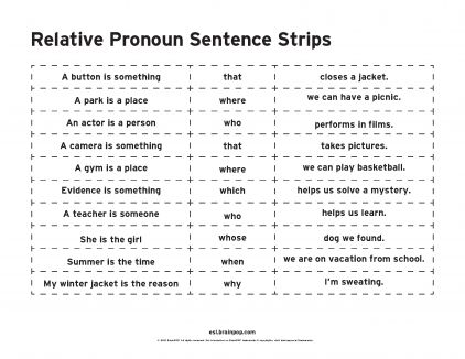 relative pronouns 3rd and fourth grade reading pinterest relative pronouns sentence. Black Bedroom Furniture Sets. Home Design Ideas