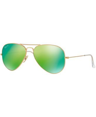 279301ce95 Ray-Ban Polarized Original Aviator Mirrored Sunglasses
