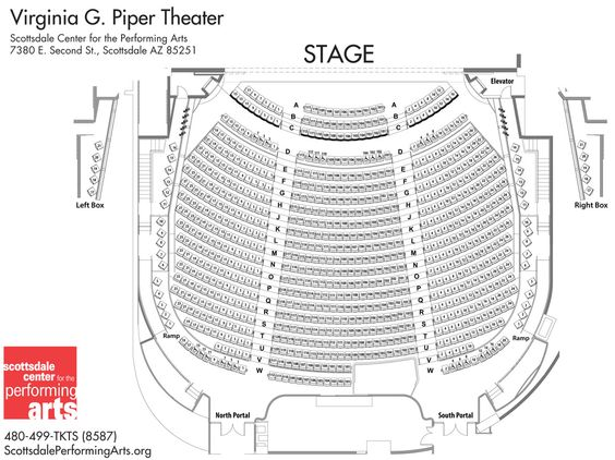 Seating Chart Of Virginia G Piper Theater Arquitetonico Urbanismo