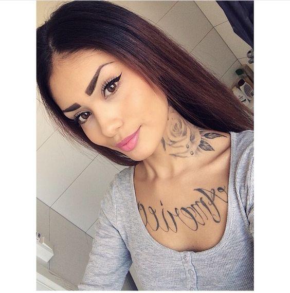 Neck Tattoos, Side